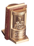 Ship's Captain Bookends finished in Antique Silver or Brass
