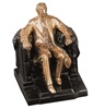 Lincoln in Chair Bookends finished in Antique Silver or Brass