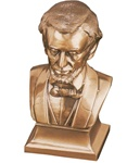 Fluted Base Bust of Lincoln Bookends