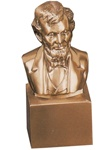 Lincoln Bust Mounted on Cube Bookends