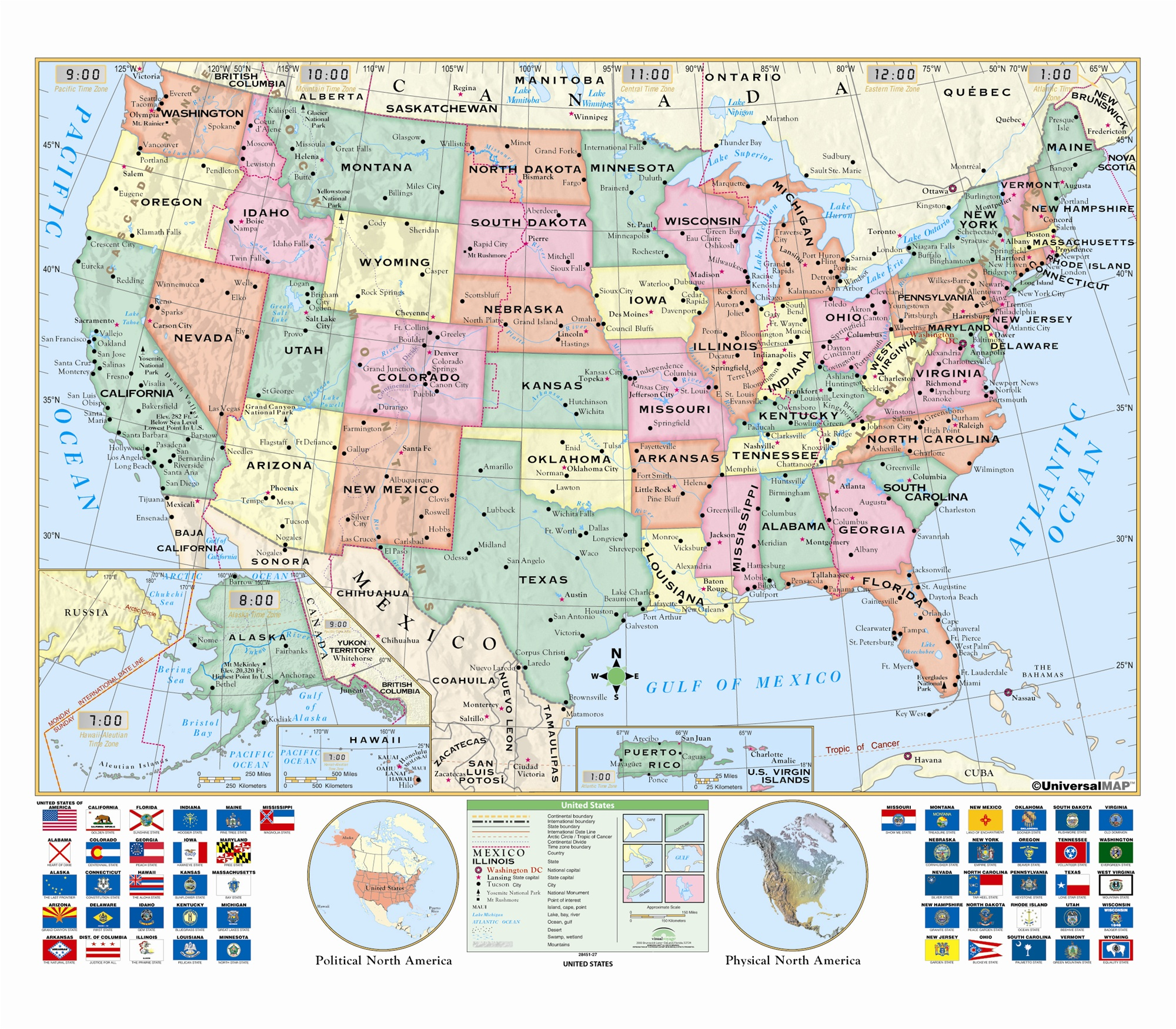Picture of: Us Essential Wall Map From Onlyglobes Com Ships Free Low Price