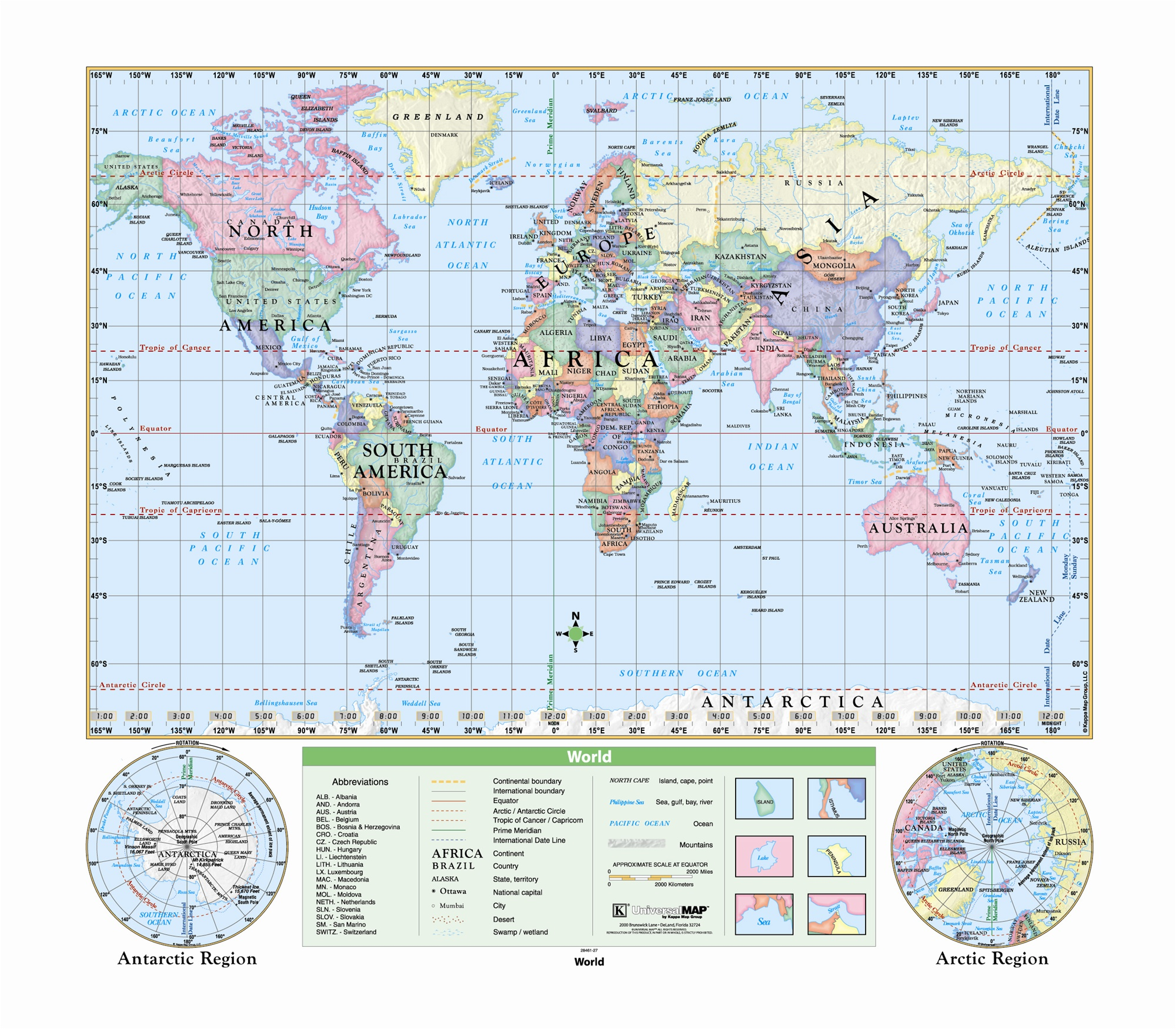 Florida On Us Map.Us World Florida Classroom Map Set 12 Globe