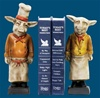 Resin Chef Pig Bookends