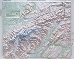 Raised Relief Map of Denali National Park
