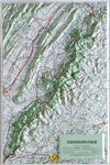 Raised Relief Map of Shenandoah National Park