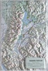 Raised Relief Map of Grand Teton National Park