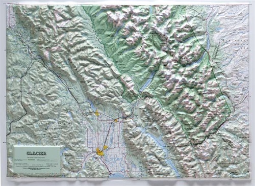 Glacier National Park Raised Relief Map From Onlyglobes Com