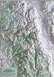 Raised Relief Map of Sequoia-Kings Canyon National Park