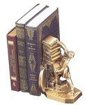 Struggling  Colonial Librarian Bookends