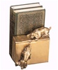 Playing Dogs on Books Bookends