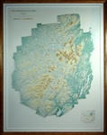 Raised Relief Map of Adirondack Park, New York