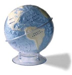 Land and Ocean Globe