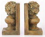 Antique Floral Urn Bookends