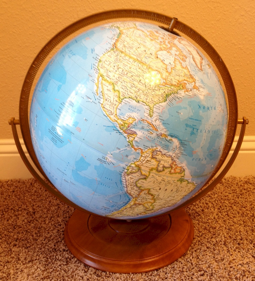 National Geographic Chamberlin Illuminated Globe Free Plaque Ships Free