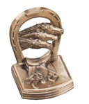 Horse Shoe with Horses Bookends