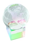 Glass Globe With Glass Prism Base