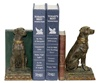 Chocolate Lab with book Bookends