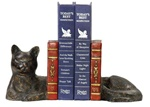 Split Cat Napping Bookends