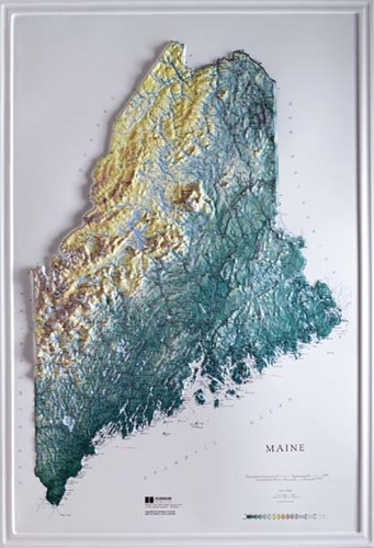 Washington State Raised Relief Map Natural Color Relief Style