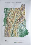Raised Relief Map of Vermont / New Hampshire