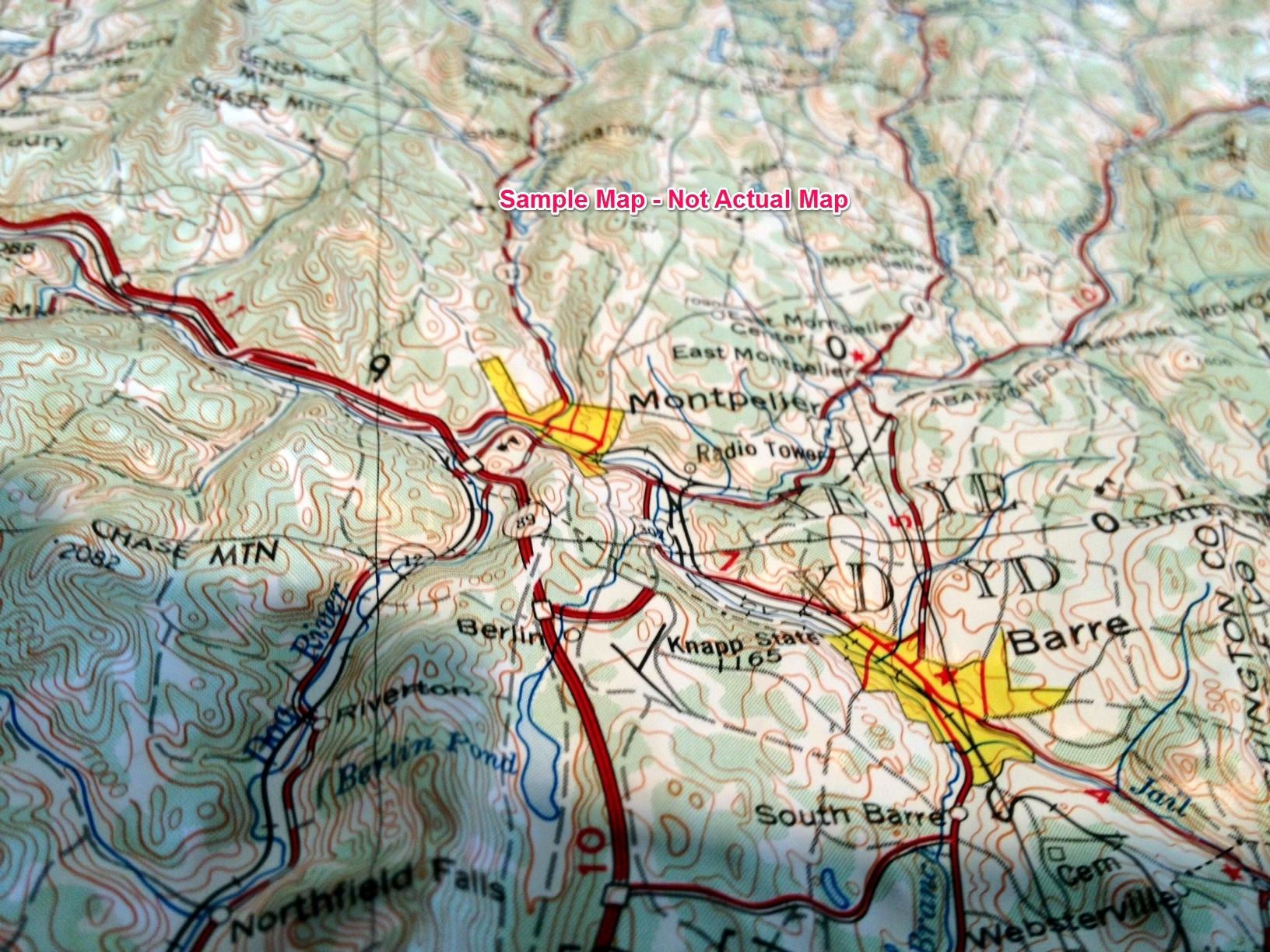 Arizona Raven Raised Relief Map