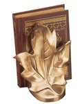 Upright Maple Leaf Bookends