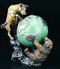 Bull & Bear Fight With Globe