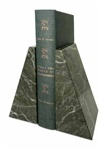 Jade Leaf Green Marble Taper Bookends