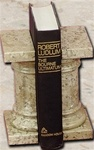Cream Fossil Stone Pedestal Bookends
