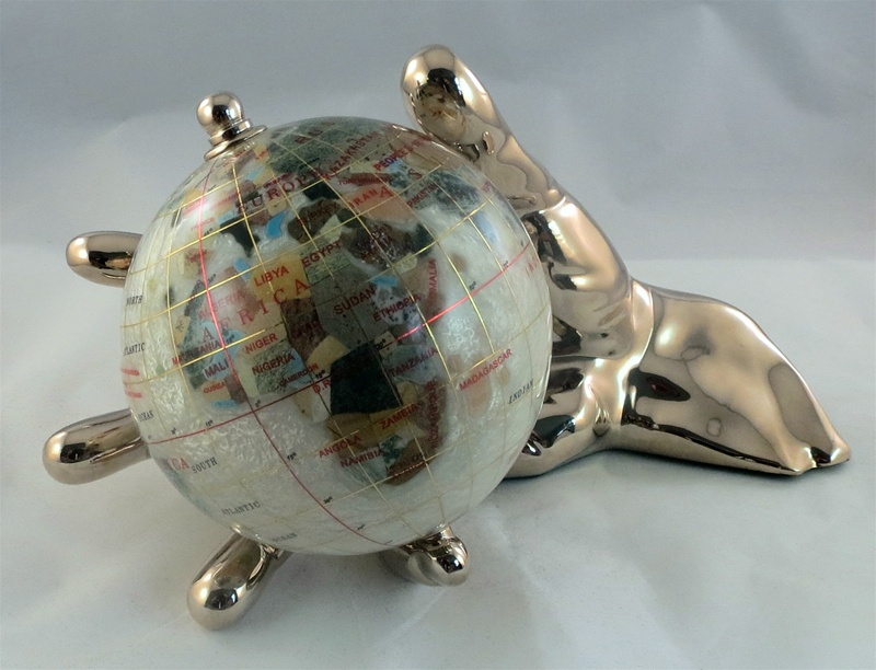 Mother of pearl 4 inch world in hand globe gold ships free low bookmark and share gumiabroncs Image collections