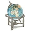 3 Inch Bahama Blue Desk Gem Globe on Gold or Silver Nautical or Arc Stand