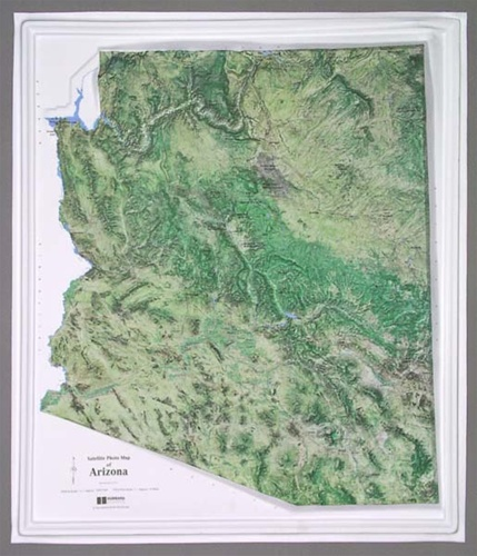 Satellite Map Of Arizona.Arizona Satellite Raised Relief Map
