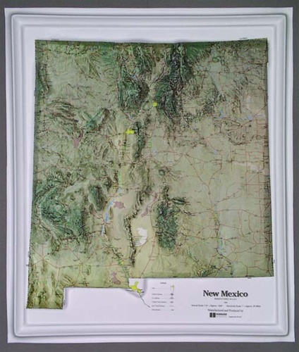 New Mexico Raised Relief Map from OnlyGlobes.com