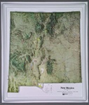 Raised Relief Map of New Mexico
