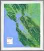 Raised Relief Map of San Francisco Bay, Bumpy Maps