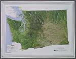 Raised Relief Map of Washington