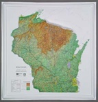 Raised Relief Map of Wisconsin