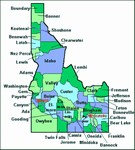Laminated Map of Clearwater County Idaho