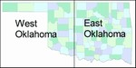 Laminated Map of Oklahoma County Oklahoma