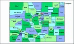 Laminated Map of Alamosa County Colorado