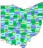 Laminated Map of Scioto County Ohio