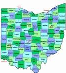 Laminated Map of Belmont County Ohio