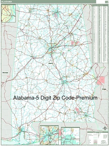Alabama Zip Code Map With Wooden Rails From Onlyglobes Com