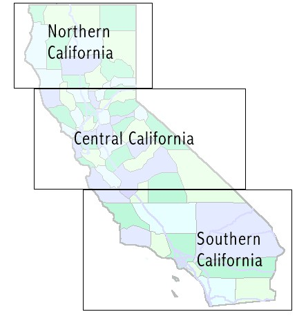 Placer County California Map - Laminated