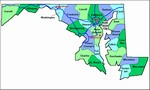 Laminated Map of Dorchester County Maryland