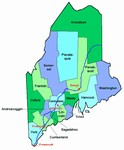 Laminated Map of Aroostook County Maine