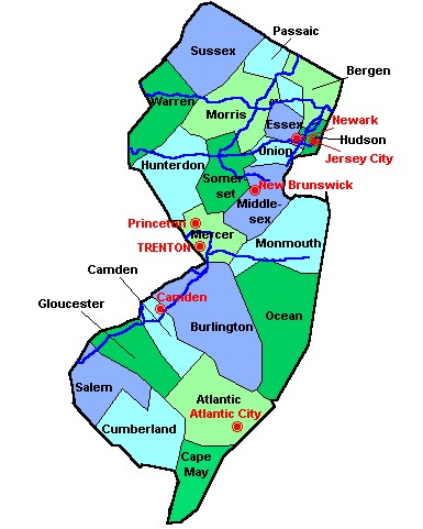 Camden County New Jersey Map - Laminated on
