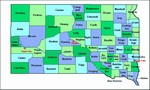 Laminated Map of Charles Mix County South Dakota