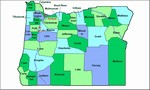 Laminated Map of Clackamas County Oregon