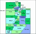 Laminated Map of Sanpete County Utah